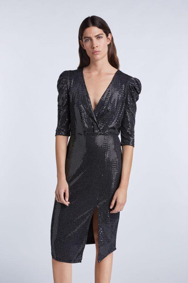 Set Metallic Sequin Dress