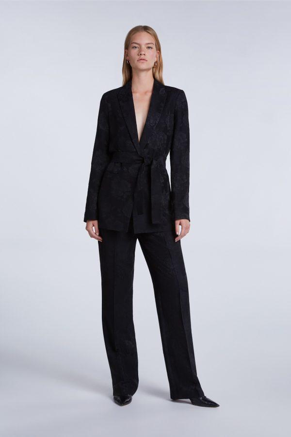 Floral Viscose Jacquard Suit