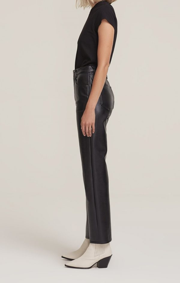 Agolde Recycled Leather Trousers Side View