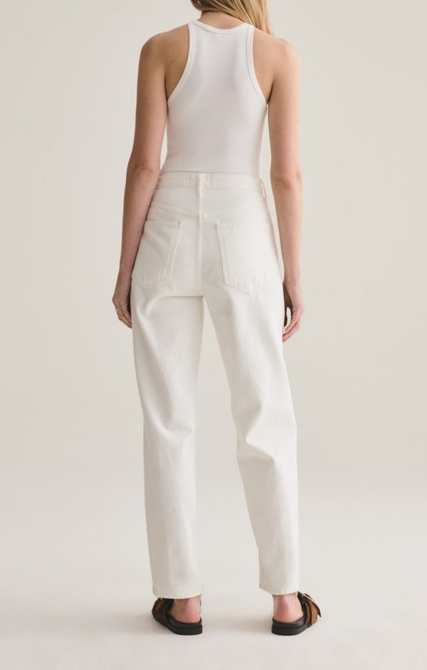 Agolde Criss Cross White Jeans Back View