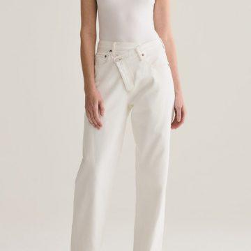Agolde Criss Cross White Jeans