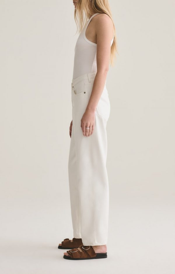 Agolde Criss Cross White Jeans Side View