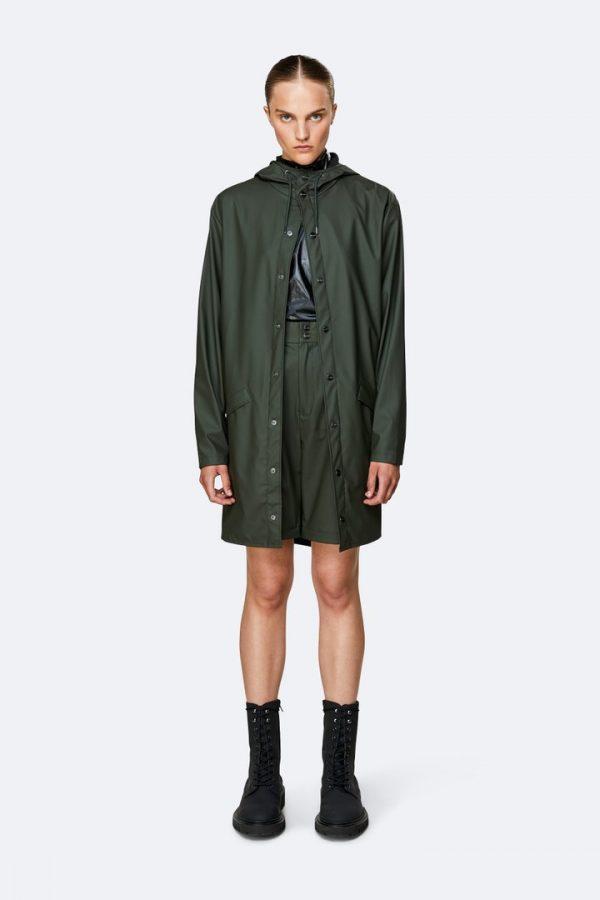 Rains Green Raincoat